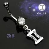 Piercing nombril zodiaque 12 - Gemeaux