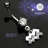 Piercing nombril zodiaque 11 - Verseau