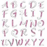 Piercing nombril lettre strass roses