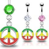 Piercing nombril cannabis 27 - Rasta peace