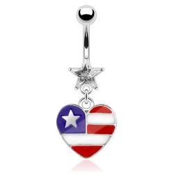 Piercing nombril coeur 14 - Américain