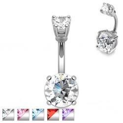 Piercing nombril cristal 02 - Double rond