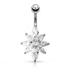 Piercing nombril cristal 09 - Fleur A