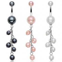 Piercing nombril cascade de perles (D21)