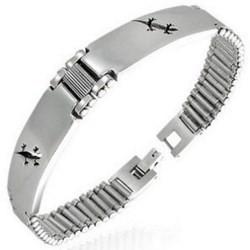 Bracelet en acier 06 - Salamandre