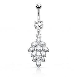 Piercing nombril strass pendants (D13)