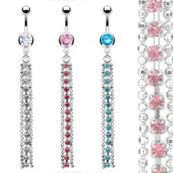 Piercing nombril chainette et cascade (D66)