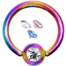Piercing micro-bcr 20 - Rainbow strass