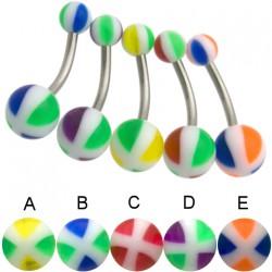Piercing nombril UV 22 - Croix