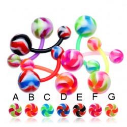 Piercing nombril UV 30 - Flexible twister