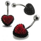 Piercing nombril cristal 12 - Férido coeur