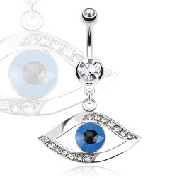 Piercing nombril oeil bleu (D119)