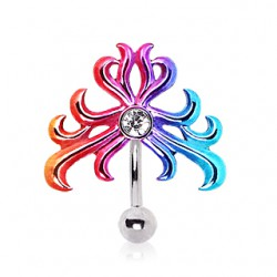 Piercing nombril tribal 31 - Rainbow inversé