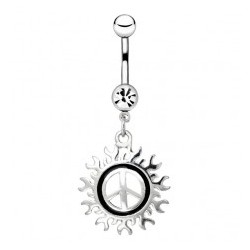 Piercing nombril tribal 36 - Peace and love