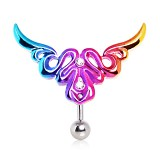 Piercing nombril tribal 57 - Inversé rainbow A