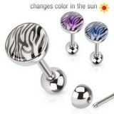 Piercing langue 07 - Glow in sun