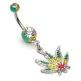 Piercing nombril cannabis 21 - Jamaique