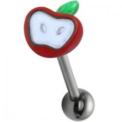 Piercing langue 117 - Pomme rouge
