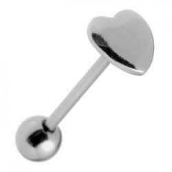 Piercing langue 32 - Coeur plat