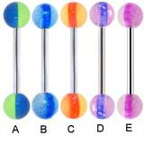 Piercing de langue UV 37 - Fluorescent strié
