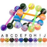 Piercing de langue UV 88 - Flexible spermato