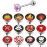 Piercing langue logos série C