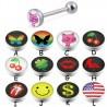 Piercing langue logos série D