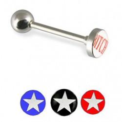 Piercing langue logos série étoiles