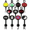 Piercing langue logos série PTFE black