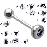 Piercing langue logo série zodiac