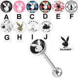 Piercing langue logo Playboy A