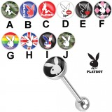 Piercing langue logo Playboy B