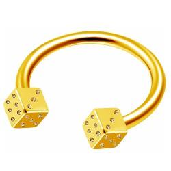 Piercing micro-circulaire 66 - Plaqué-or dés
