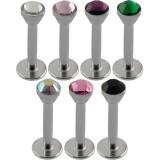 Piercing micro-labret 35 - Strass losange