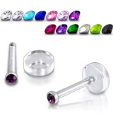 Piercing micro-labret 36 - Strass base dévissable