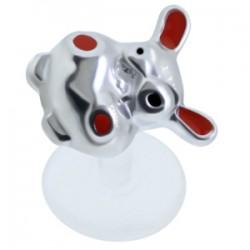 Piercing micro-labret PTFE 23 - Zèbre