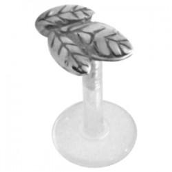 Piercing micro-labret PTFE 105 - Feuilles