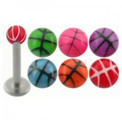 Piercing micro-labret acry 10 - UV basket boule