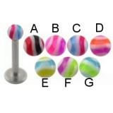 Piercing micro-labret acry 11 - UV boule striée