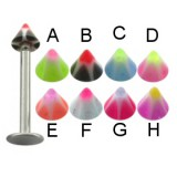 Piercing micro-labret acry 14 - UV étoile pointe