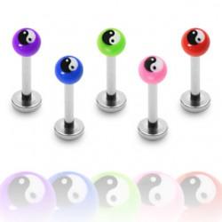 Piercing labret UV 20 - Yin yang