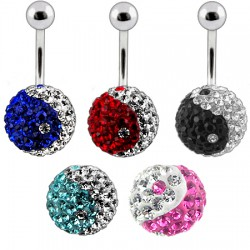 Piercing nombril cristal 25 - Férido yin yang