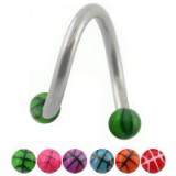 Piercing micro-spirale 14 - UV basket boules