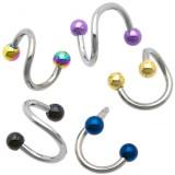 Piercing spirale 03 - PVD et acier boules