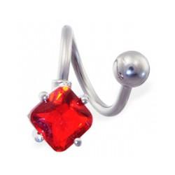 Piercing spirale 24 - Cristal losange