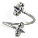 Piercing spirale 45 - UFO pointes