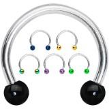 Piercing fer à cheval 09 - PVD et acier boules