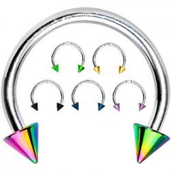 Piercing fer à cheval 20 - PVD et acier pointes