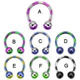 Piercing micro-circulaire 93 - PVD strié