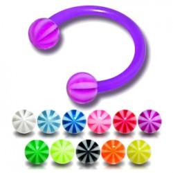 Piercing micro-circulaire 98 - Flexible beach-ball